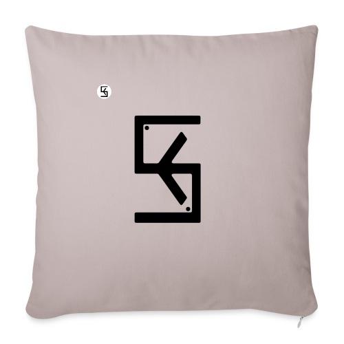 """Soft Kore Logo Black - Throw Pillow Cover 18"""" x 18"""""""