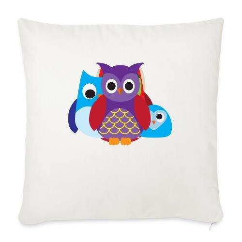 "Cute Owls Eyes - Throw Pillow Cover 18"" x 18"""