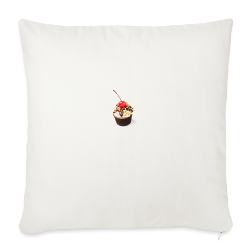 "Banana Split Cupcake - Throw Pillow Cover 18"" x 18"""