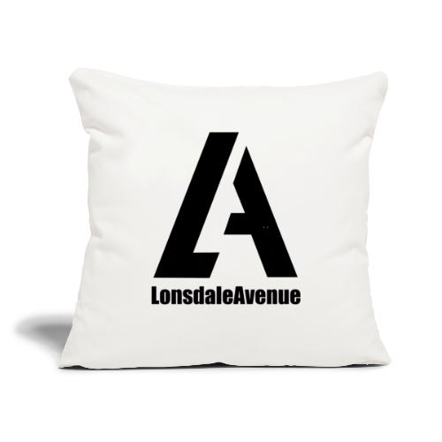 "Lonsdale Avenue Logo Black Text - Throw Pillow Cover 17.5"" x 17.5"""