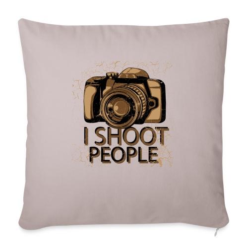 "Photographer - Throw Pillow Cover 18"" x 18"""