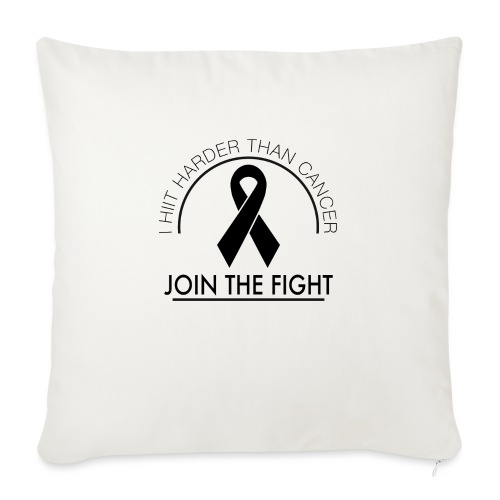"Breast Cancer Design 2 - Throw Pillow Cover 17.5"" x 17.5"""
