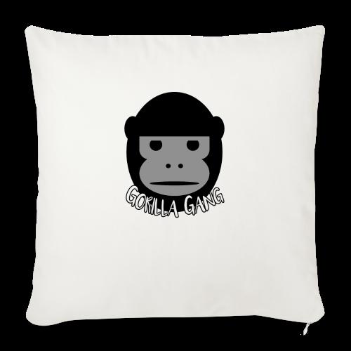 "Gorilla Gang Original Insignia - Throw Pillow Cover 18"" x 18"""