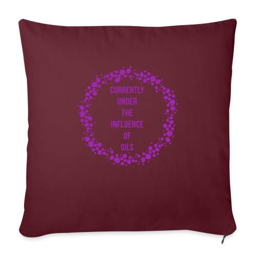 "under the influence - Throw Pillow Cover 18"" x 18"""