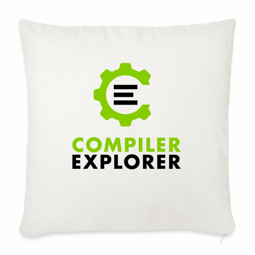 "Logo and text - Throw Pillow Cover 17.5"" x 17.5"""