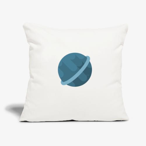 """Tiny Blue Planet - Throw Pillow Cover 18"""" x 18"""""""