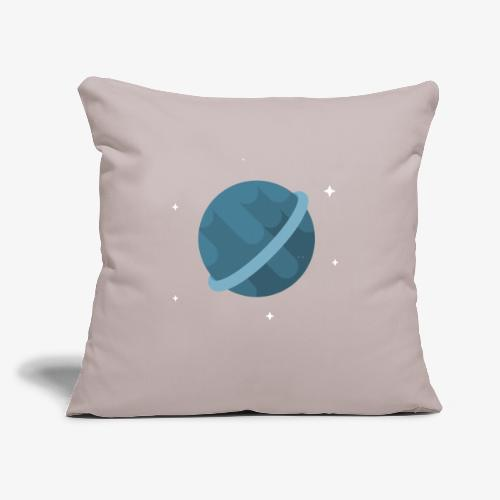 "Tiny Blue Planet - Throw Pillow Cover 18"" x 18"""