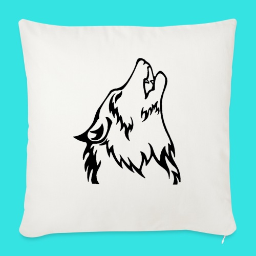 """Wolf (back) - Throw Pillow Cover 17.5"""" x 17.5"""""""