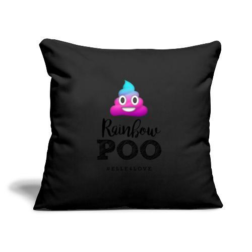"Rainbow Poo - Throw Pillow Cover 18"" x 18"""