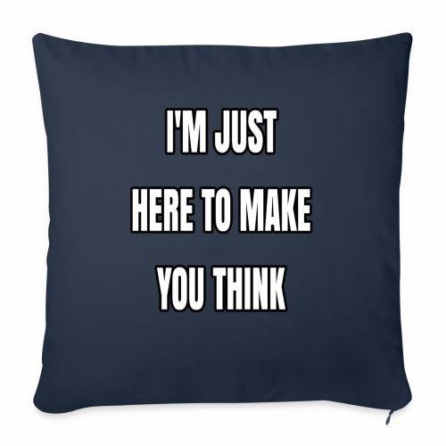 """IJHTMYT (White Font) - Throw Pillow Cover 18"""" x 18"""""""