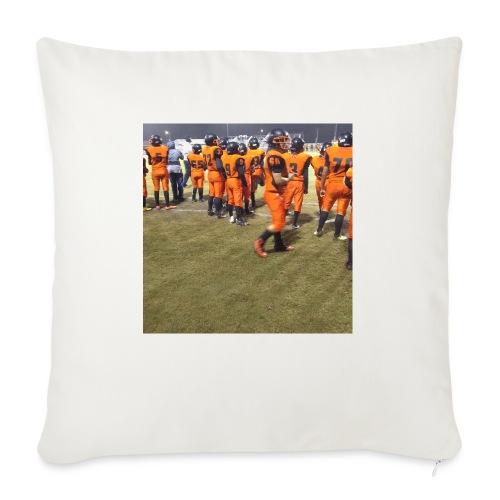 "Football team - Throw Pillow Cover 18"" x 18"""