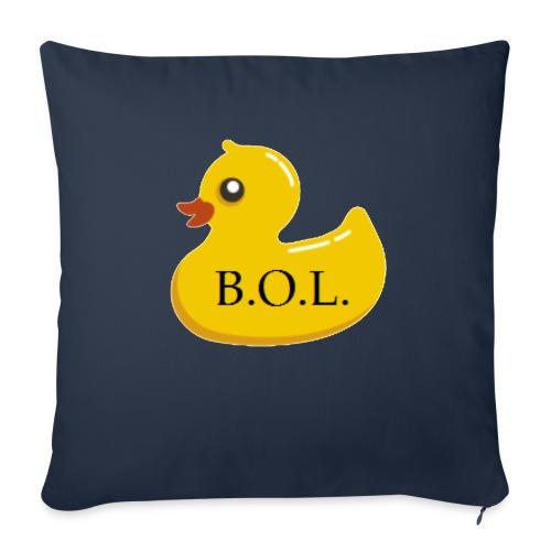 "Official B.O.L. Ducky Duck Logo - Throw Pillow Cover 18"" x 18"""