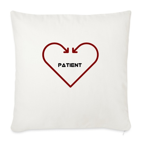 """Love is Patient - Throw Pillow Cover 17.5"""" x 17.5"""""""