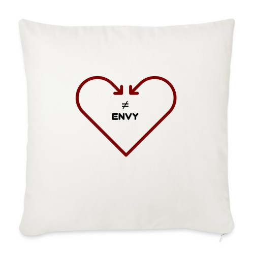 """love does not envy - Throw Pillow Cover 17.5"""" x 17.5"""""""