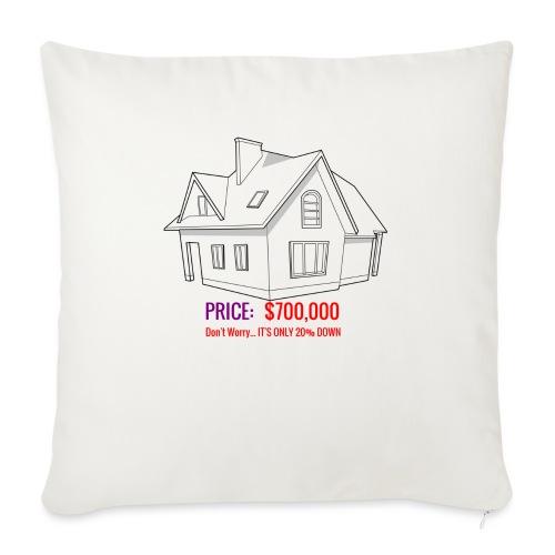 "Fannie & Freddie Joke - Throw Pillow Cover 17.5"" x 17.5"""