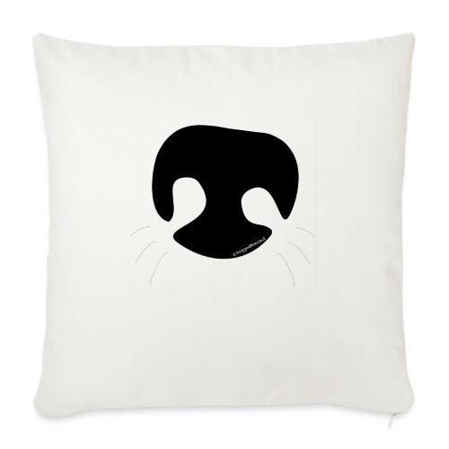 "Dog Nose - Throw Pillow Cover 17.5"" x 17.5"""