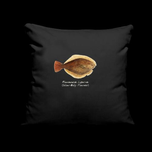 "Yellow belly flounder - Throw Pillow Cover 17.5"" x 17.5"""
