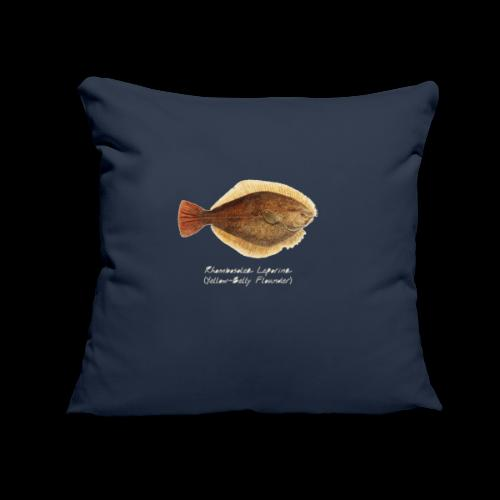 """Yellow belly flounder - Throw Pillow Cover 17.5"""" x 17.5"""""""