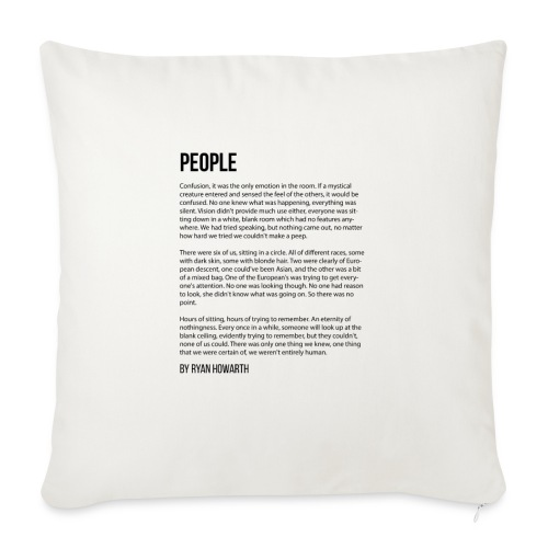 "People - Throw Pillow Cover 18"" x 18"""