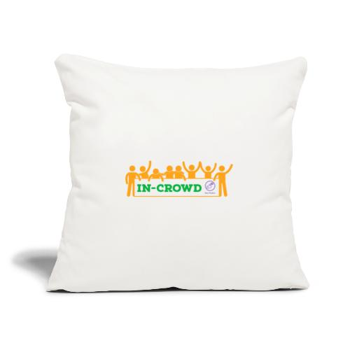 """in crowd orange - Throw Pillow Cover 17.5"""" x 17.5"""""""