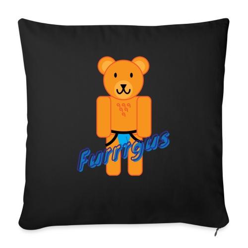 "Furrrgus @ Underbear - Throw Pillow Cover 17.5"" x 17.5"""