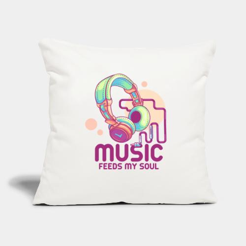 "music - Throw Pillow Cover 17.5"" x 17.5"""