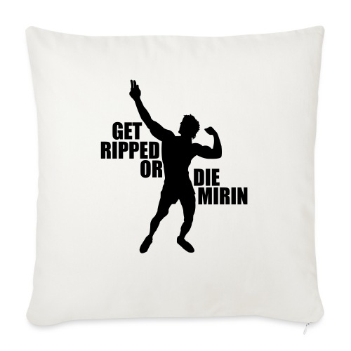 "Zyzz Silhouette Get Ripped - Throw Pillow Cover 17.5"" x 17.5"""