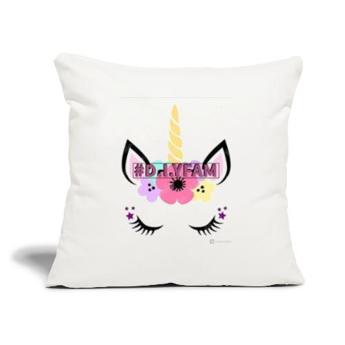 "D.I.YFAM - Throw Pillow Cover 17.5"" x 17.5"""