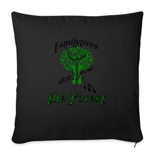 """genealogy family tree forest funny birthday gift - Throw Pillow Cover 18"""" x 18"""""""