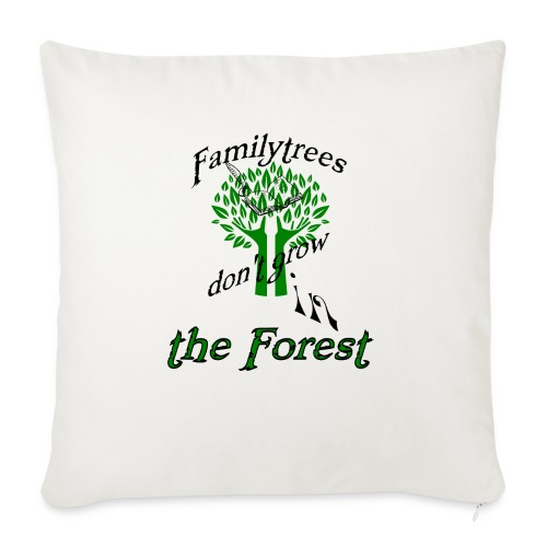 "genealogy family tree forest funny birthday gift - Throw Pillow Cover 18"" x 18"""