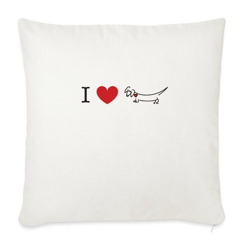 "I love Dachshund - Throw Pillow Cover 18"" x 18"""