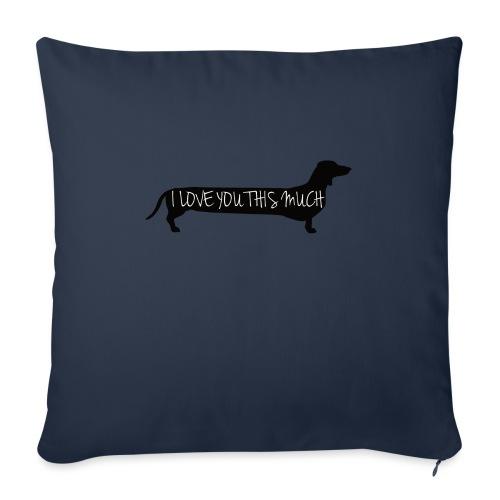 """Dachshund Love - Throw Pillow Cover 18"""" x 18"""""""