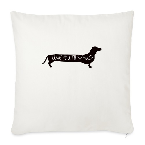 "Dachshund Love - Throw Pillow Cover 18"" x 18"""