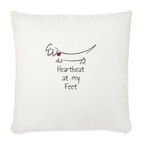 "Heartbeat at my Feet - Throw Pillow Cover 18"" x 18"""