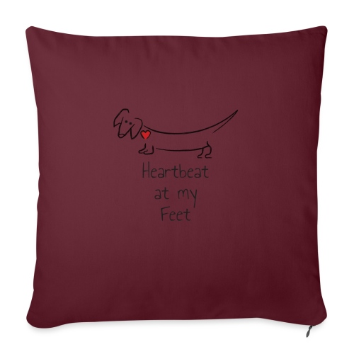 "Heartbeat at my Feet - Throw Pillow Cover 17.5"" x 17.5"""
