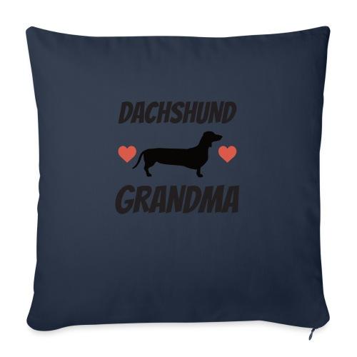 """Dachshund Grandma - Throw Pillow Cover 18"""" x 18"""""""