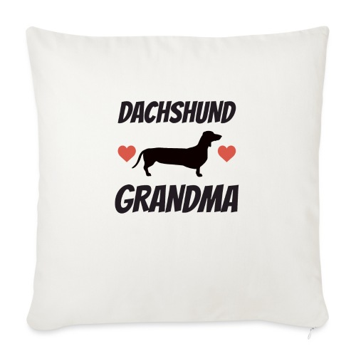 "Dachshund Grandma - Throw Pillow Cover 18"" x 18"""