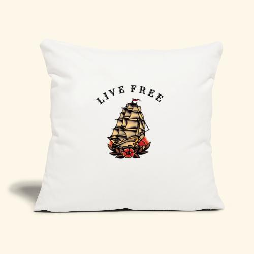 "LIVE FREE - Throw Pillow Cover 17.5"" x 17.5"""
