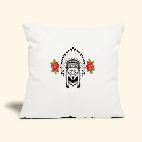 "WOLF KING - Throw Pillow Cover 17.5"" x 17.5"""