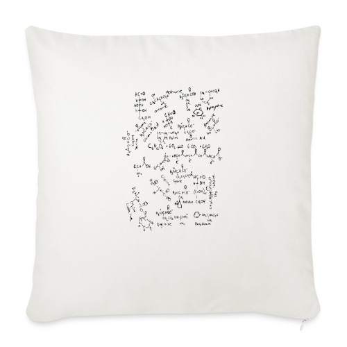 "Organic chemistry: The Finale - Throw Pillow Cover 18"" x 18"""