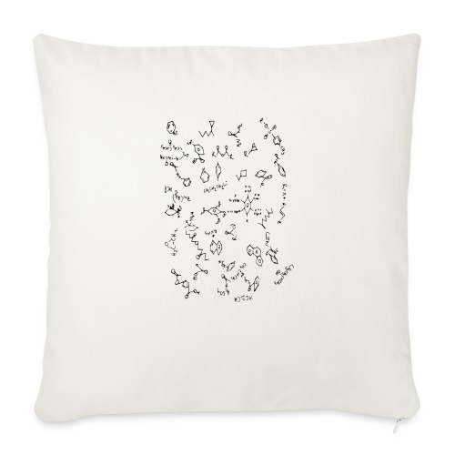 "Organic chemistry design 5 - Throw Pillow Cover 18"" x 18"""