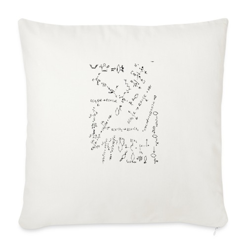 "Organic Chemistry Design 2 - Throw Pillow Cover 18"" x 18"""