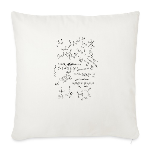 "Organic chemistry first draft - Throw Pillow Cover 18"" x 18"""