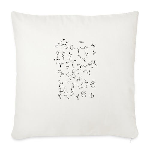 "Organic Chemistry Design 4 - Throw Pillow Cover 18"" x 18"""
