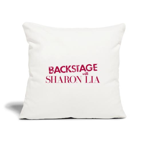 "Backstage With Sharon Lia - Red - Throw Pillow Cover 17.5"" x 17.5"""