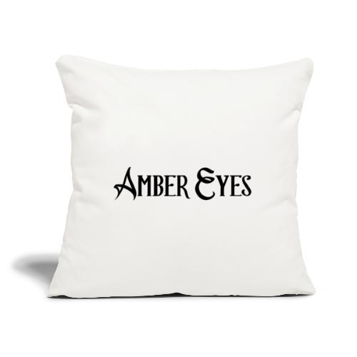 """AMBER EYES LOGO IN BLACK - Throw Pillow Cover 17.5"""" x 17.5"""""""
