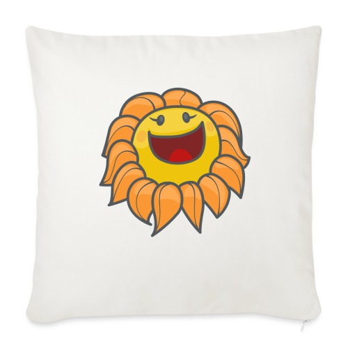 """Happy sunflower - Throw Pillow Cover 17.5"""" x 17.5"""""""