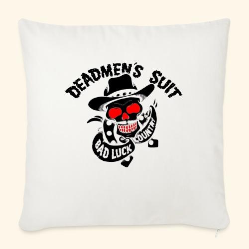 "Deadmen's Suit Bad Luck#Skull - Throw Pillow Cover 17.5"" x 17.5"""