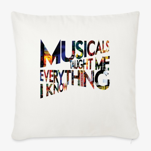 "MTMEIK Broadway - Throw Pillow Cover 18"" x 18"""