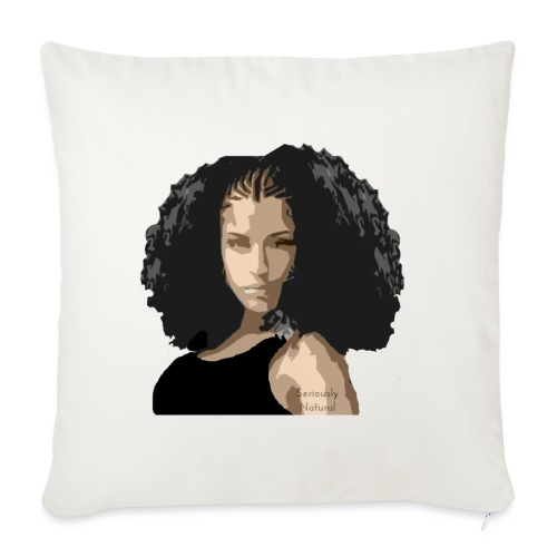 "Sabrina in black tee - Throw Pillow Cover 17.5"" x 17.5"""